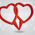 Hearts dialog box — Stock Vector