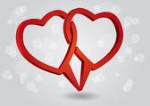 καρδιές διαλόγου — Διανυσματικό Αρχείο