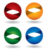 Color sphere icon set — Stockvektor