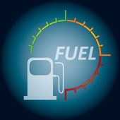 Abstract fuel indicator — Stock Vector