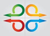 Frecce di colore — Vettoriale Stock