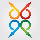 Color arrows — Vetor de Stock