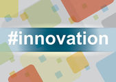 Innovation - Infographic with design elements — Vector de stock