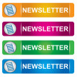 Newsletter banner set — Stock Vector