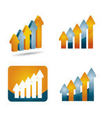 Profits Report graph — Stock Vector