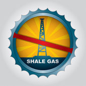 Shale gas label — Stock Vector