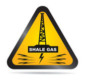 Shale gas label - antifracking — Stock Vector