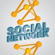 Social Network - abstract illustration — Stock Vector #38494371