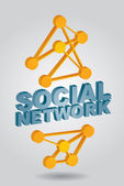 Social Network - abstract illustration — Stock Vector