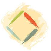 Hand drawing abstract illustration - square — Stockvektor