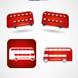Stock Vector: Bus - public transport
