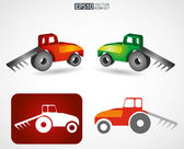 Tractor icon — Stock Vector
