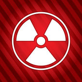 Danger - radioactive sign  — Stock Vector
