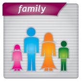 Presentation template - family concept — Stock Vector