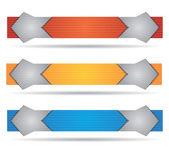Kopf- oder Banner-Design-set — Stockvektor