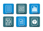 Flat design - communication icon set — Stock Vector