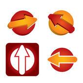 Arrows template - abstract icon set  — Stock Vector