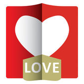 Love - abstract romance template — Stock Vector
