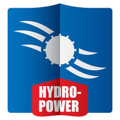 Hydropower concept  — Vector de stock