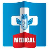 フラット医療アイコン セット — ストックベクタ