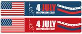 4. července den americké nezávislosti — Stock vektor