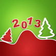 Vector holiday new year 2013 background — Stock Vector