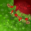 Vector holiday background with Christmas garland, hally — Stock vektor