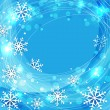 Vector blue christmas background with snowflakes — Stock Vector