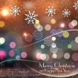 Royalty-Free Stock 矢量图片: Vector 	colored christmas background with snowflakes