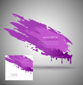 Vector element for design in the form of purple paint smear — Stock Vector