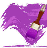Vector element for design in the form of a purple smear paint an — Stock Vector