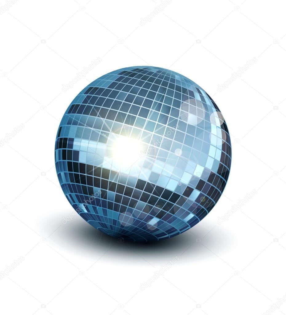Bola de discoteca vector sobre un fondo blanco vector de - Bola de discoteca de colores ...