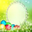 Royalty-Free Stock Vector Image: Vector easter background with frame for text,  and eggs