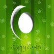 Vector green background with Easter egg — Stock Vector