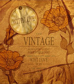 Vector vintage romantic background with flowers — Vecteur