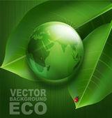 Зеленый фон по экологическим вопросам — Cтоковый вектор