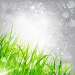 Vector abstract background bright: the grass on a gray — Stock Vector #6130605