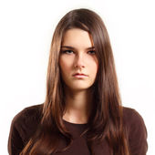 Teen girl with blank facial expression — Stock Photo