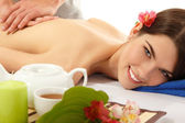 Massage woman young beautiful — Stock Photo