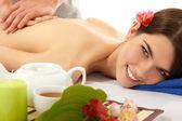 Massage woman young beautiful — Stock Photo