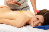 Massage honey woman young beautiful — Stock Photo
