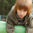 Boy child cute outdoor portrait — Stock Photo #33514995
