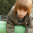 Boy child cute outdoor portrait — Stock Photo
