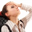 Business woman tired depressed — Stock Photo #33518989
