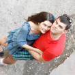 Young couple hugs - first love — Stock Photo #33646345