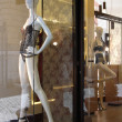 Boutique with mannequins in fashionable female underwear — Foto Stock