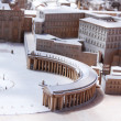 Detail of model of Vatican in the Vatican Museum, Rome, Italy — Foto Stock