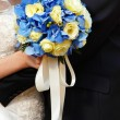 Wedding bunch in bride hand  — Foto Stock