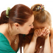 Mother console her crying daughter — Stock Photo #33648017