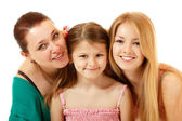 Little girl with mother sisiter — Stock Photo